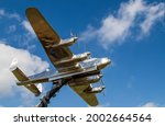 Lancaster Bomber Statue Seen At ...