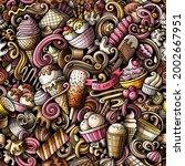 cartoon doodles ice cream... | Shutterstock .eps vector #2002667951