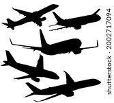 set silhouette passenger... | Shutterstock . vector #2002717094