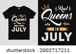 real queens are born in july...   Shutterstock .eps vector #2002717211