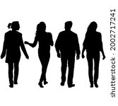 silhouette group of people... | Shutterstock . vector #2002717241