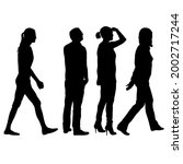 silhouette group of people... | Shutterstock . vector #2002717244