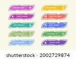 all to action buttons. website ...   Shutterstock .eps vector #2002729874
