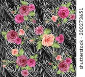 dark stylish animal pattern... | Shutterstock .eps vector #200273651