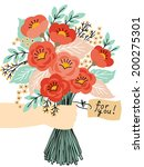 gift for you  beautiful flower... | Shutterstock .eps vector #200275301