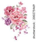 watercolor illustration ... | Shutterstock . vector #200275469