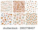 hand drawn geometric seamless... | Shutterstock .eps vector #2002758437