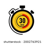 icon of timer with 30 minutes...