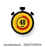 icon of timer with 40 minutes...