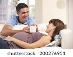 couple expecting baby | Shutterstock . vector #200276951