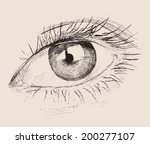 the eye  new look  vintage... | Shutterstock .eps vector #200277107