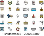 hotel icons | Shutterstock .eps vector #200283389