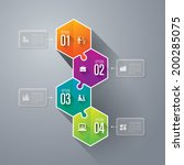 abstract 3d digital... | Shutterstock .eps vector #200285075