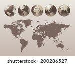 world globe set   vector... | Shutterstock .eps vector #200286527