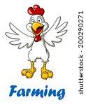 cartoon rooster bird for... | Shutterstock .eps vector #200290271