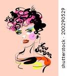 vector fashion illustration | Shutterstock .eps vector #200290529