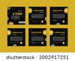 set collection of editable...   Shutterstock .eps vector #2002917251