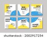 set of editable minimal square...   Shutterstock .eps vector #2002917254