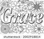 grace font with flower element... | Shutterstock .eps vector #2002918814