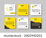 set of 6 square banners with...   Shutterstock .eps vector #2002940201