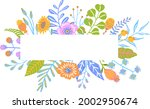 colorful floral twigs branches... | Shutterstock .eps vector #2002950674