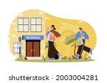 children go to school web...   Shutterstock .eps vector #2003004281