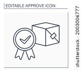 approved product line icon....   Shutterstock .eps vector #2003006777