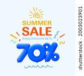 special summer sale banner 70 ... | Shutterstock .eps vector #2003023901