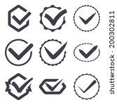 set of nine different vector...   Shutterstock .eps vector #200302811