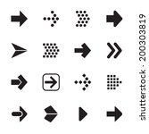arrow sign icon set isolated on ...