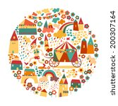 children's circle background... | Shutterstock .eps vector #200307164