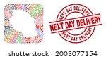 vector collage tanzania map of... | Shutterstock .eps vector #2003077154
