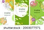 set of agricultural backgrounds.... | Shutterstock .eps vector #2003077571