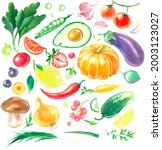 Watercolor Clipart Set Of...