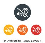 deaf icon. silent and quiet... | Shutterstock .eps vector #2003139014