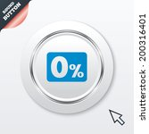 zero percent sign icon. zero...