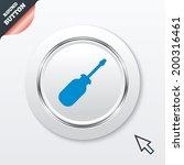 screwdriver tool sign icon. fix ...