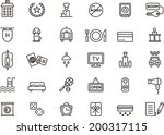 hotel icons | Shutterstock .eps vector #200317115