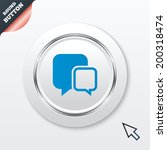 chat sign icon. speech bubbles...