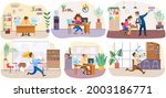 set of illustrations about...   Shutterstock .eps vector #2003186771