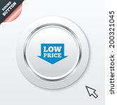 low price arrow sign icon....