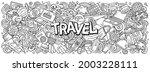 travel hand drawn cartoon... | Shutterstock .eps vector #2003228111