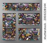 cartoon vector doodle set of... | Shutterstock .eps vector #2003228144