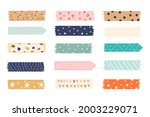 washi tape design collection.... | Shutterstock .eps vector #2003229071