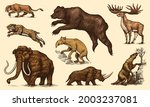 mammoth or extinct elephant ... | Shutterstock .eps vector #2003237081