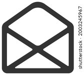 simple email envelope web icon...