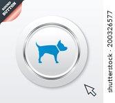 dog sign icon. pets symbol....