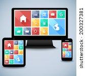 modern flat user interface kit...
