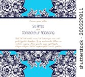 wedding invitation cards with... | Shutterstock .eps vector #200329811