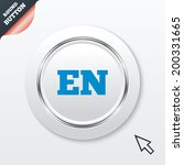 english language sign icon. en...